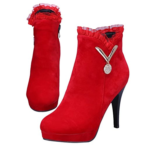 WoMen Red Red Boot AIYOUMEI AIYOUMEI Classic Classic WoMen Boot AIYOUMEI Boot Classic WoMen Bfanwzq