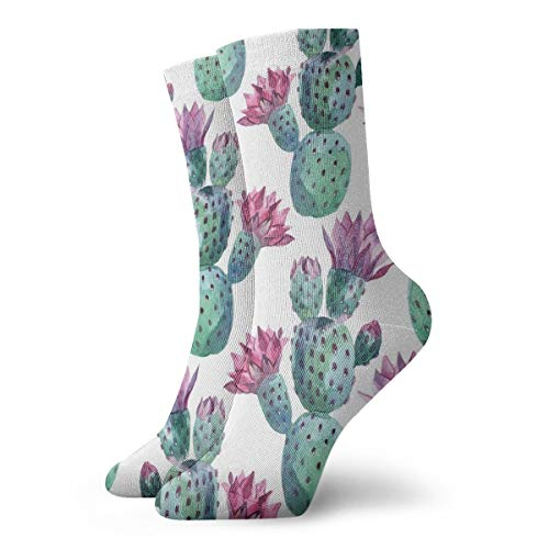 Womens Wilder California Prickly Pear Cactus Floral Art Printed Funny Novelty Casual Socks