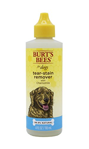 Burt's Bees for Dogs All-Natural Tear Stain Remover with Chamomile | Best Tear Stain Remover for All Dogs And Puppies, 4 ounces (Stain Removal Tear)