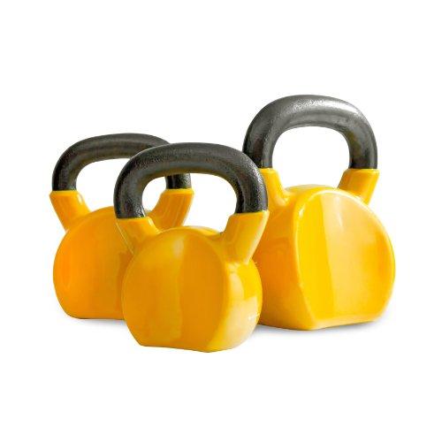 Bodymax Kettlebell voor volwassenen, veilig gietijzer, vinyl coated, 20 kg