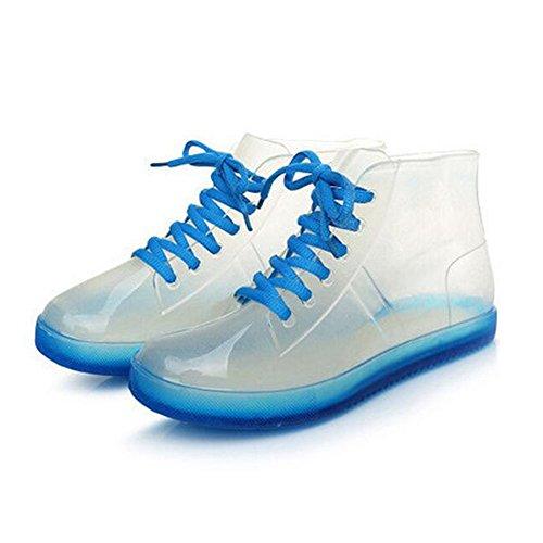 Ladies Boots Candy Rain Transparent Rubber Rainboots Summer Women Meijunter Colors Blue Shoes B6qRZWw