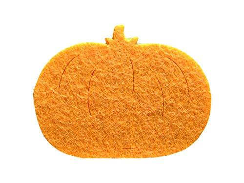 Petra's Craft A- APF 4404–08 Confetti, Round, 100 MM x 40 MM, Pumpkin dottergelb/Felt -