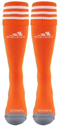 adidas Copa Zone Cushion III Soccer Socks (1-Pack), Orange/White, Medium