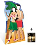 Hawaiian Couple Stand-in - Beach Party Lifesize Cardboard Cutout / Standee / Standup - Includes 8x10 (20x25cm) Star Photo