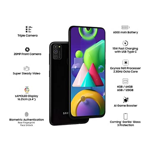 Samsung Galaxy M21 (Raven Black