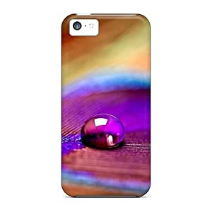 VRcLmtE47ijxnJ Anti-scratch Case Cover Mwaerke Protective Peacock Feather Case For Iphone 5c