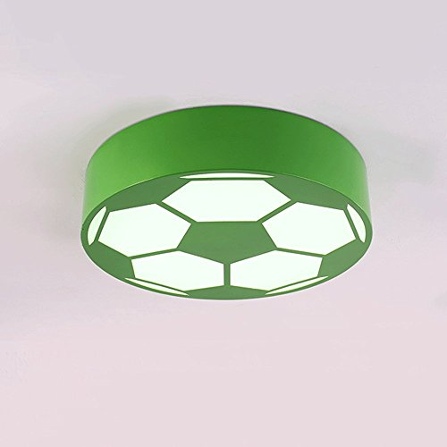 Cartoon LED Soccer Children's Room Chandelier Creative Bedroom Lights Early Education Round Warm Kindergarten Playground Lighting ( Color : Green ) by JYKJ