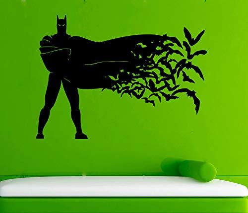 Artstickerscool Wall Decor The Batman DC Comics Vinyl Design Animated Super Hero Interior Sticker Children's Room Wall Decor The Dark Knight Decal Fans Print
