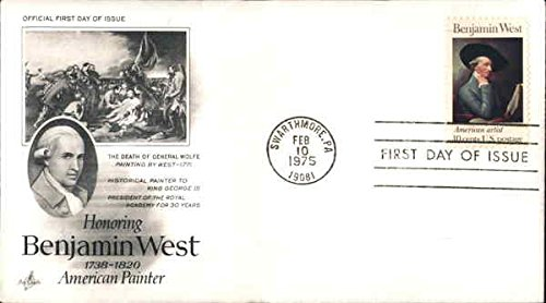 Honoring Benjamin West 1738-1820 American Painter Original First Day Cover - 1820 Original Antique