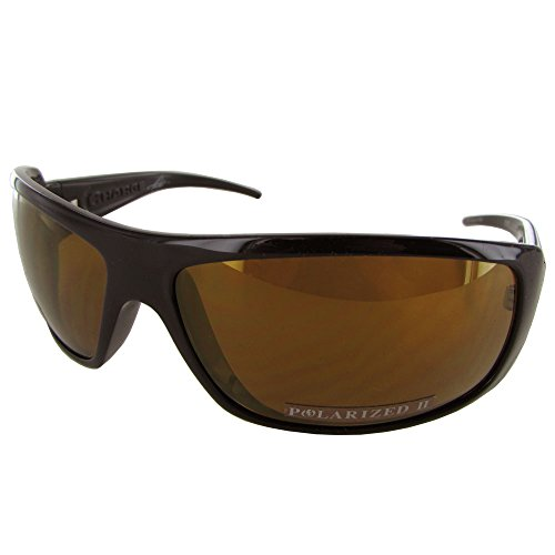 Lens Gloss Black Frame (Electric Visual Charge Polarized Wrap Sunglasses,Gloss Black Frame/Level II Bronze Lens,One)