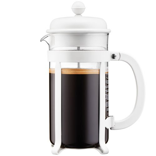 Bodum 1908-913 8 cup Java French Press Coffee Maker, 34 oz, White