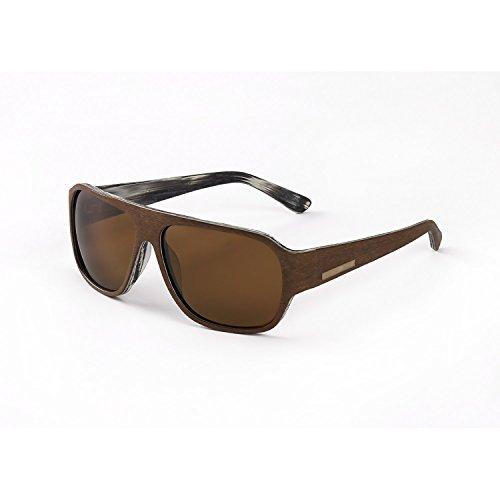 Hang Ten Gold The Balsa Fish-Brown 2 Tone Wood/Brown Lens...
