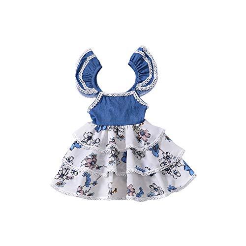 Girls Princess Dress Baby Plaid Pattern Toddler Dresses Design for Sleeveless Children Party Dress,XML,4T]()