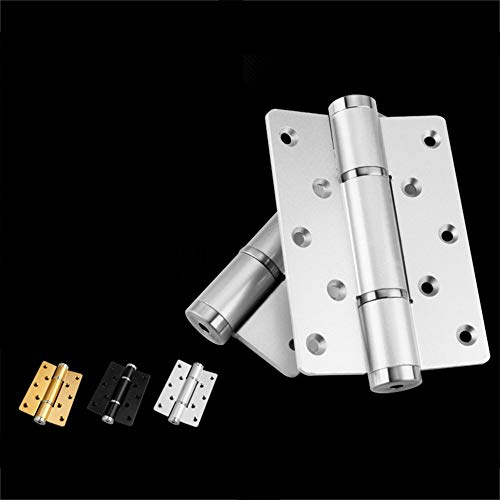 ETbotu 2pcs Aluminum Door Hinge 5 Inches Multifunction Space Automatic Hinge with Spring for Wooden Cabinet Door Window Gold by ETbotu (Image #7)
