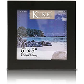 Klikel 5 X 5 Black Wooden Picture Frame - Black Wooden Wall Hanging And Table Standing Photo Frame