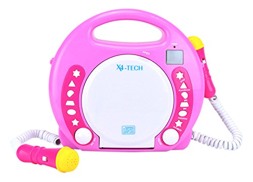 X4-TECH 701354 Kinder MP3/CD-Player Bobby Joey pink