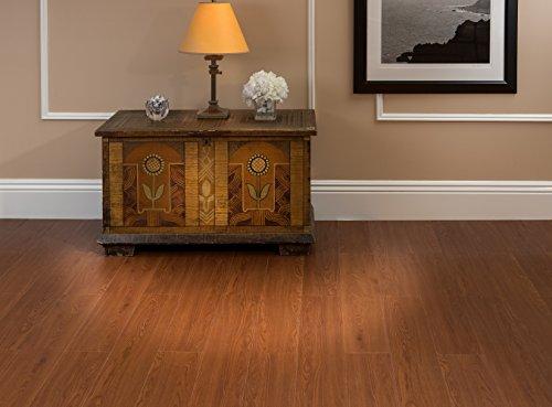 Achim Home Furnishings VFP2.0WA10 3-Foot by 6-Inch Tivoli Vinyl Floor Planks, Walnut, 10-Pack