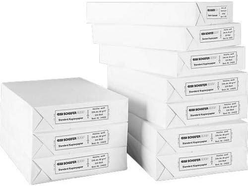 SCHÄFER SHOP Kopierpapier A4-80g/m² Papier - Druckerpapier Laserpapier Inkjetpapier Faxpapier - 5000 Blatt, weiß
