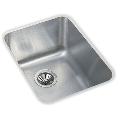 Lustertone Undermount Bar Sink (Elkay ELU141810 Gourmet Lustertone Undermount Sink, Stainless)