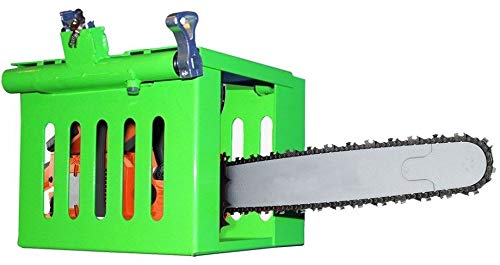 Green Touch MTC100 Multi-Tool Cage Rack for Open and Enclosed Trailers - Chainsaw, Handheld Blower, Hedge Trimmer Rack by Green Touch