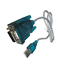 Premium High Speed USB 2.0 to Serial RS-232 DB-9 Converter Cable - 3 Feet - Supports Windows 10, 8, 7, Vista, XP, 2000, 98, Linux and Mac