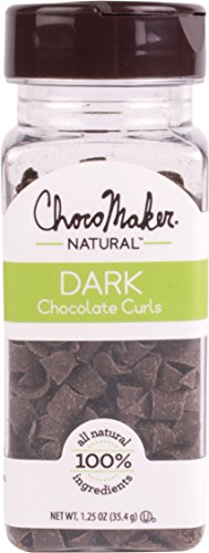 ChocoMaker Inc. Dark Chocolate Curls, 1.25 Ounce