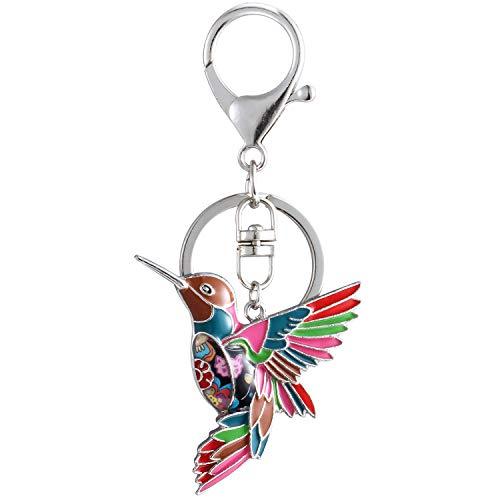 Luckeyui Multicolor Hummingbird Keychains Gifts for Women Girls Bird Charm Keyrings