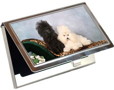 Poodle Business Card / Credit Card Case