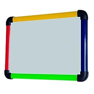 VIZ-PRO Children Board/Writing Whiteboard/Dry Erase Board,Colourful Plastic Frame -12 X 8 Inches