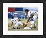 George Foster & Graig Nettles autographed 8x10 photo (1980s baseball legends Mets Padres) Matted & Framed