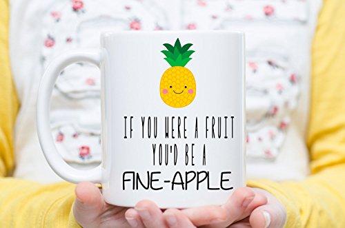 Aladdin Fine China (If You Were A Fruit You'd Be a Fine-Apple, Funny Mugs, Pineapple Gift, Pineapple Mug, Valentine's Day Gift, Boyfriend Gift, Girlfriend Gift, Valentine's Day Gifts, Coffee Cups and Mugs, 11oz 15oz)