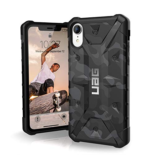 URBAN ARMOR GEAR UAG iPhone XR [6.1-inch Screen] Pathfinder SE Camo Feather-Light Rugged [Midnight] Military Drop Tested iPhone Case