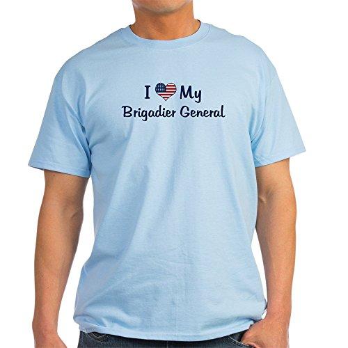 CafePress Brigadier General: Flag Love Ash Grey T-Shirt - 100% Cotton (Love Ash Grey T-shirt)