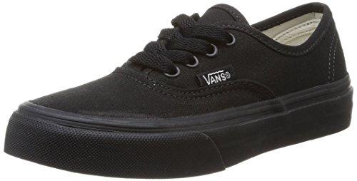 Vans Kid's Authentic Black/Black Skate Shoe 1.5