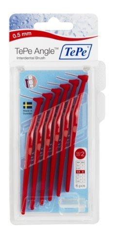 TePe Interdental Brush Angle - Red 0.5mm by TePe Munhygienprodukter AB, Sweden
