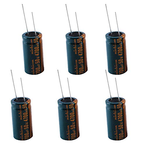 4700uF 50V Capacitor +/-20% -40 to +105°C Aluminum Electrolytic Capacitors Kit Pack of 6 Replacement by Swess