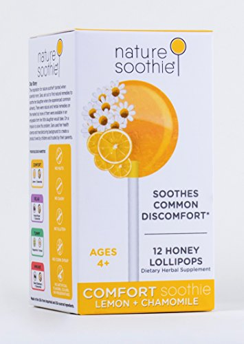 nature soothie Comfort Honey Lollipops Herbal Supplement – Kids & Adults Throat Soothing Pops – Natural Real Honey Chamomile & Lemon Suckers – 12 Count For Sale