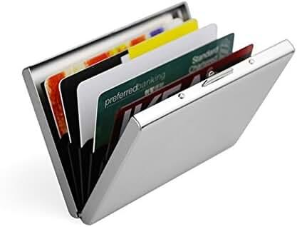 Artmi Credit Card Holder RFID Aluminum Business Card Holder Automatic Pop-up Wallet