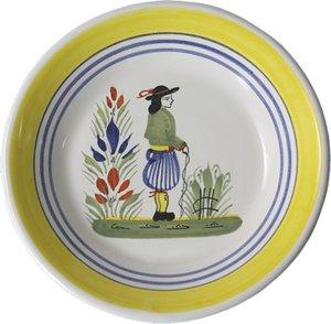 Quimper Henriot Miniature Plate Man