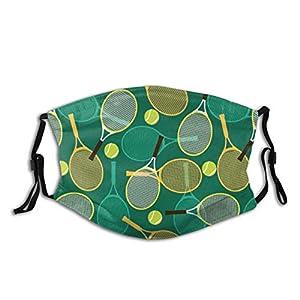 מסיכה לפנים רב פעמית מפוליאסטר בסגנון טניס שניתן לכבס במכונת כביסה