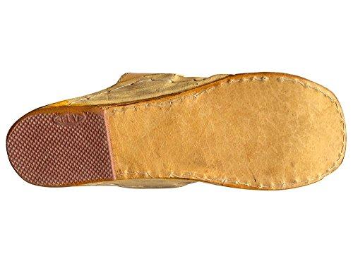 Steg N Stil Kolhapuri Vintage Look Läder Gammal Stil Lädersandalen Skor Hippie