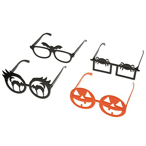 Tinksky 4pcs Funny Novelty Glasses Frame Eye Mask Halloween Masquerade Cosplay Makeup Party Halloween April Fool 's Day children's party Decoration - Halloween Glasses