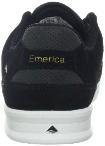 Emerica THE REYNOLDS LOW, Sneaker uomo Nero (Schwarz (Black/White/Gold 090))