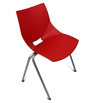 GloDea Shell Outdoor Chair Set of 2 , Red