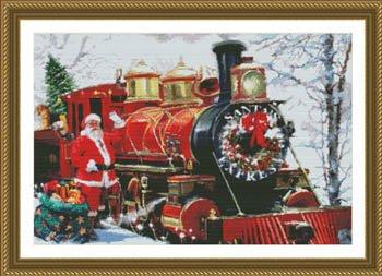 Santa's Express Train Cross Stitch Chart