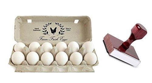 Traditional Custom Rubber Egg Box Stamp - 5