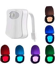 8 Kleur Bewegingssensor Led Toilet Nachtlampje Body Sensing Automatische Toilet Bowl Badkamer Ligh Detectie