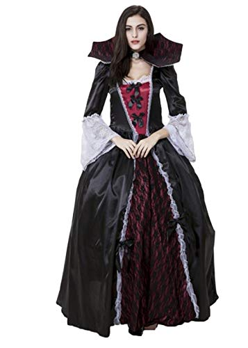 Women's Victorian Vamp Vampiress Versailles Costume for Halloween Party Masquerade -