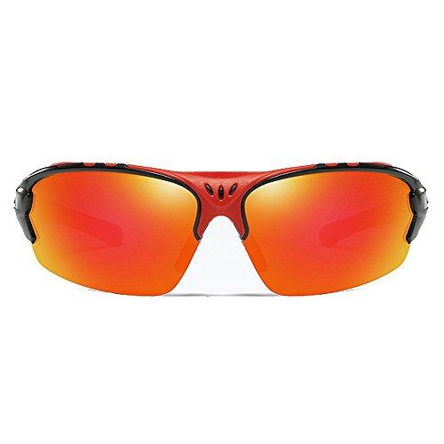 Gafas Hombre Sol Gafas De De Sol LBY Viento A Sol Color Prueba Gafas Sol Gafas Red Red De para Polarizadas De de 4FqqwxU