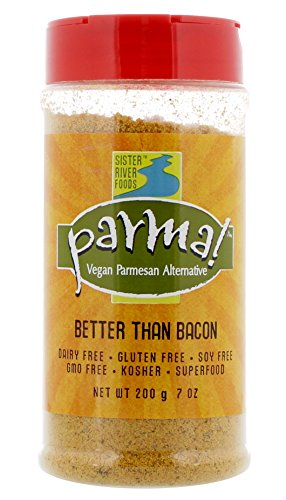Parma! Vegan Parmesan - Better than Bacon, Dairy-Free, Soy-Free and Gluten-Free Vegan Cheese, Plant-Based Superfood, Kosher (7 oz)
